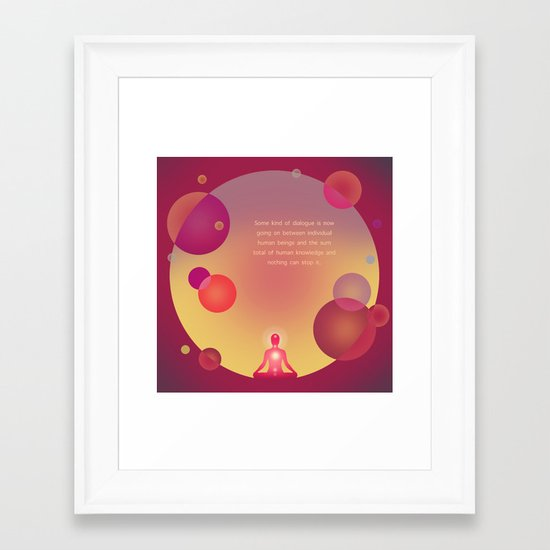 Dialogue Framed Art Print