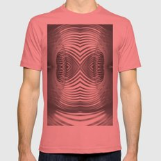 Paper Sculpture #9 Mens Fitted Tee Pomegranate SMALL