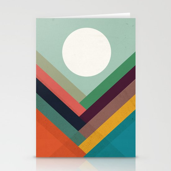 Rows of valleys Stationery Card