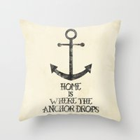 Where The Anchor Drops Throw Pillow