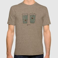 Glasses Mens Fitted Tee Tri-Coffee SMALL