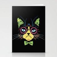 Sugar Skull Cat Stationery Cards