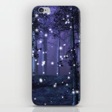 Purple Fantasy Forest iPhone & iPod Skin