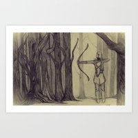 Legolas LOTR - the noisy silence of woods Art Print