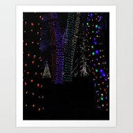 Christmas Woods Art Print