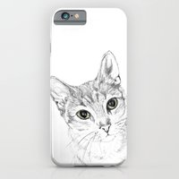 iPhone & iPod Case featuring A Sketch :: Cat Eyes by RipdNTorn