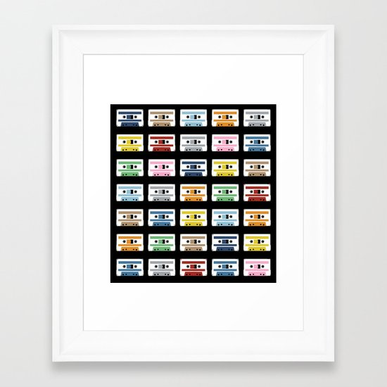 Rainbow Tapes Framed Art Print