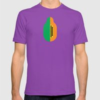 Fruit: Papaya Mens Fitted Tee Ultraviolet SMALL
