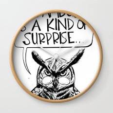 Said Owl Wall Clock