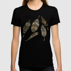 Wild & Free  Womens Fitted Tee Black SMALL