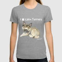 Cairn Terrier Womens Fitted Tee Tri-Grey SMALL