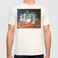 Study Of Silver Mens Fitted Tee Natural SMALL