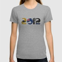 Australia 2012 Womens Fitted Tee Athletic Grey SMALL