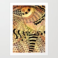 Elephant Butterfly Colle… Art Print