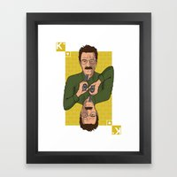 Walter White King of Hearts Framed Art Print