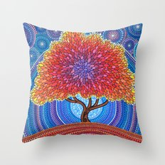 Autumn Blossoms Throw Pillow