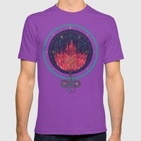 Fading Dahlia Mens Fitted Tee Ultraviolet SMALL