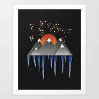 Warm Sun With A Cold Cli… Art Print