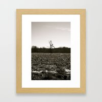 Empty Space in Kalamazoo, MI Framed Art Print