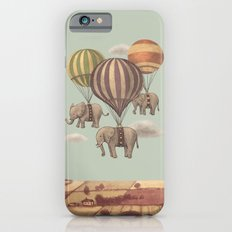 Flight of the Elephants - mint option Slim Case iPhone 6s