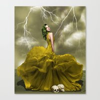 Black Veins Canvas Print