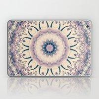 Rue des Glycines -- Vintage Cream and Lavender Purple Mandala Laptop & iPad Skin