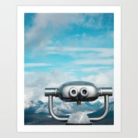 Mountaintop View Art Print