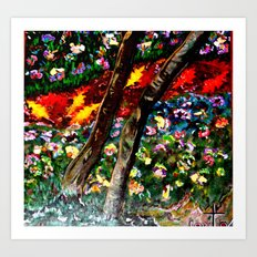 River of Wooded Flowers Art Print
