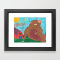 Big Bull Framed Art Print