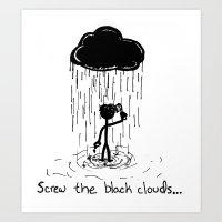 Turn that cloud, upside down! Art Print