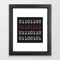 Binary Love Framed Art Print