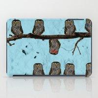 Perched Owls Print iPad Case