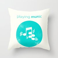 Playing Music is Freaking Hard. Throw Pillow