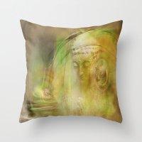 Buddha Illustration Throw Pillow