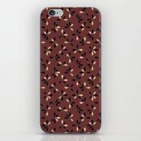 loves me loves me not pattern - oxblood iPhone & iPod Skin