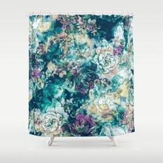 Frozen Flowers Shower Curtain