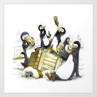Penguins Art Print