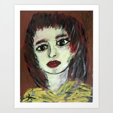 THE WORRIED GIRL Art Print