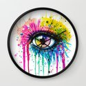 """Rainbow in your eyes"" Wall Clock"