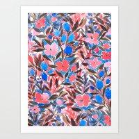 Nonchalant Vibrant Art Print