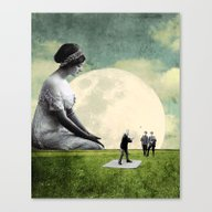 Stellar Moon Canvas Print