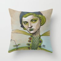 PRETTY'S ON THE INSIDE Throw Pillow