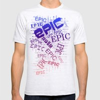 Epic Mens Fitted Tee Ash Grey SMALL