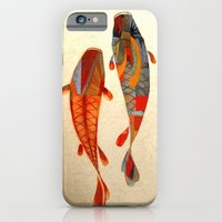 orange iPhone & iPod Cases featuring Kolors Koi by Fernando Vieira
