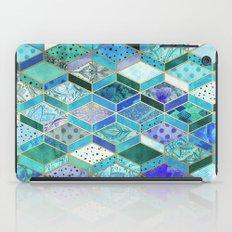 Sapphire & Emerald Diamond Patchwork Pattern iPad Case