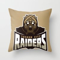 Tusken City Raiders - Tan Throw Pillow