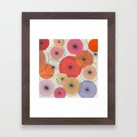 Spiral Flowers Framed Art Print