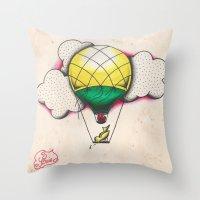 Bird Balloon Throw Pillow