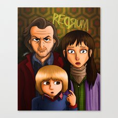 American Family Portrait (Redrum) Canvas Print