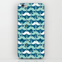 Mustache Waves iPhone & iPod Skin
